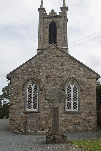 Church and cross at Ferns
