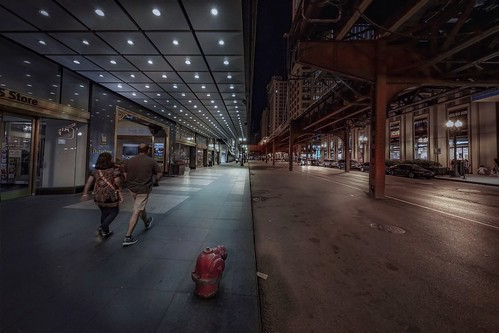 travel sonya7r2 view building architecture city urban night street chicago people walking