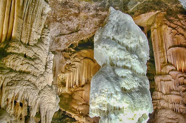 Brilliant Stalagmite , the symbol of Postojna Cave