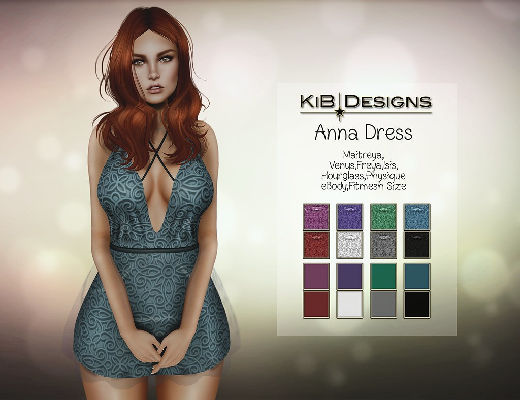 KiB Designs - Anna Dress @Designer Showcase - SecondLifeHub.com