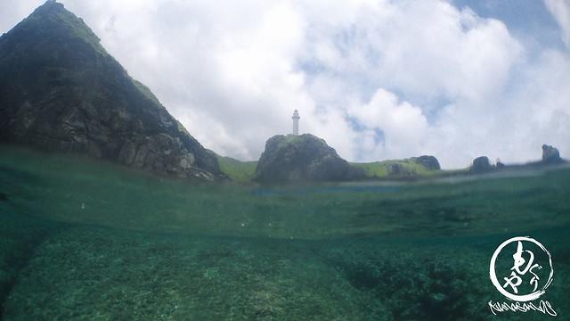 灯台下で半水面撮影チャレンジ♪