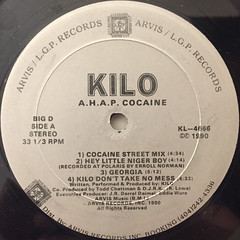 KILO:AMERICA HAS A PROBLEM COCAINE(LABEL SIDE-A)