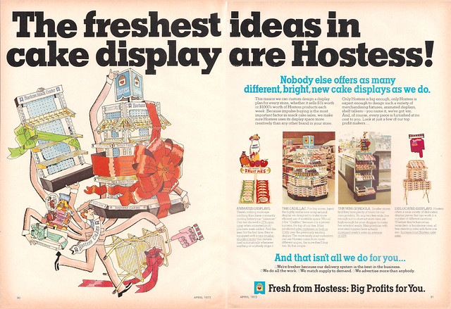 1972 Hostess Industry Magazine Ad Displays