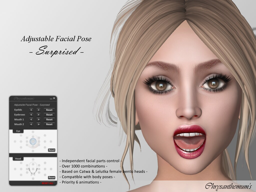 Adjustable Facial Pose - Surprised - SecondLifeHub.com