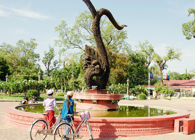 Naga for Peace Statue in Battambang, Cambodia -1