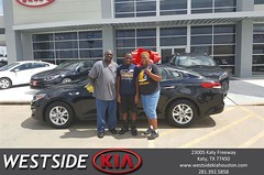 Happy Anniversary to Qamiyon on your #Kia #Optima from Rubel Chowdhury at Westside Kia!