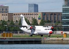 DOT LT ATR42-500 LY-DAT London City Airport