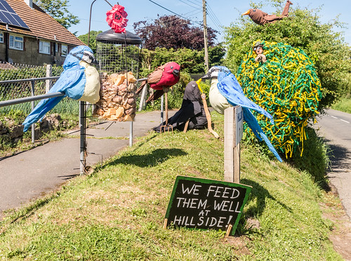 2017 05MAY31 CHILLERTON SCARECROW FESTIVAL - FIRST PRIZE TO THE COOK FAMILY