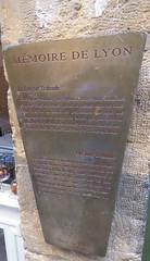 Photo of La Longue Traboule brushed metal plaque