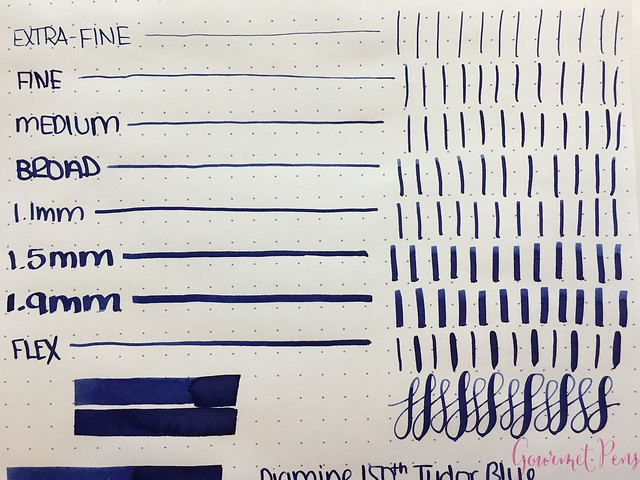 Ink Shot Review Diamine Anniversary Tudor Blue @AppelboomLaren 3