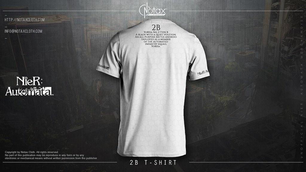 T-shirt fullprint nier automates