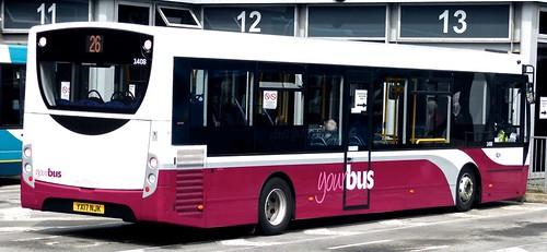 YX17 NJK 'yourbus' No. 1408 Alexander Dennis Ltd E20D /4 on 'Dennis Basford's railsroadsrunways.blogspot.co.uk'