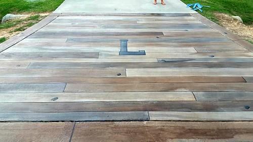 Concrete Wood Driveway- Durham, NC