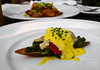 Smoked Oyster, Spinach, Piquillo, Saffron Emulsion - La Cuchara