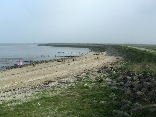 The coast east at Allhallows-on-Sea
