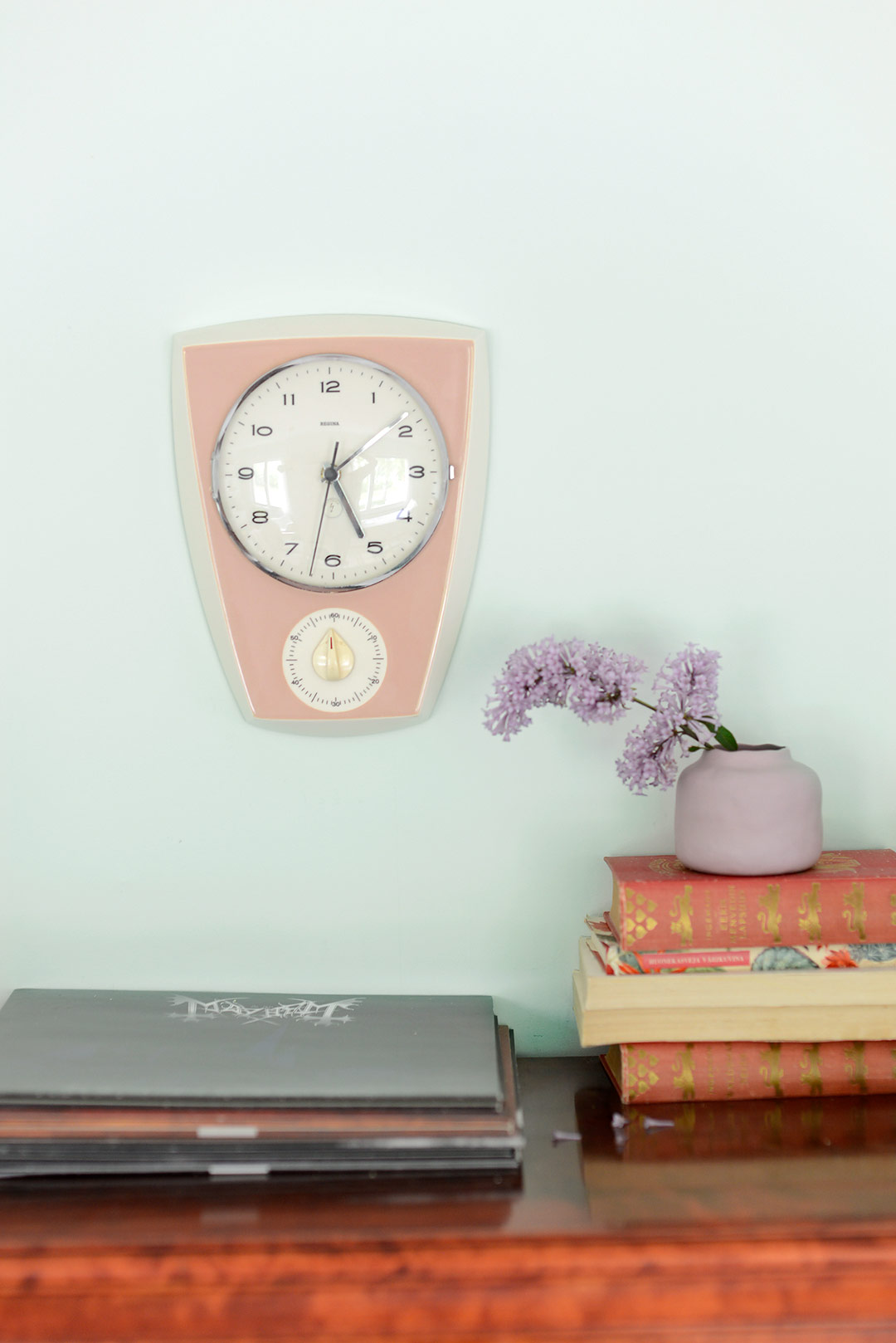 Cute Regina wall clock from Unik Uleaborg