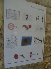 Fontenay Abbey - The forge - sign - Plans et esquisses