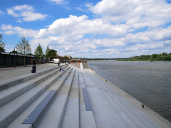 Vistula boulevards in Warsaw. View of the river