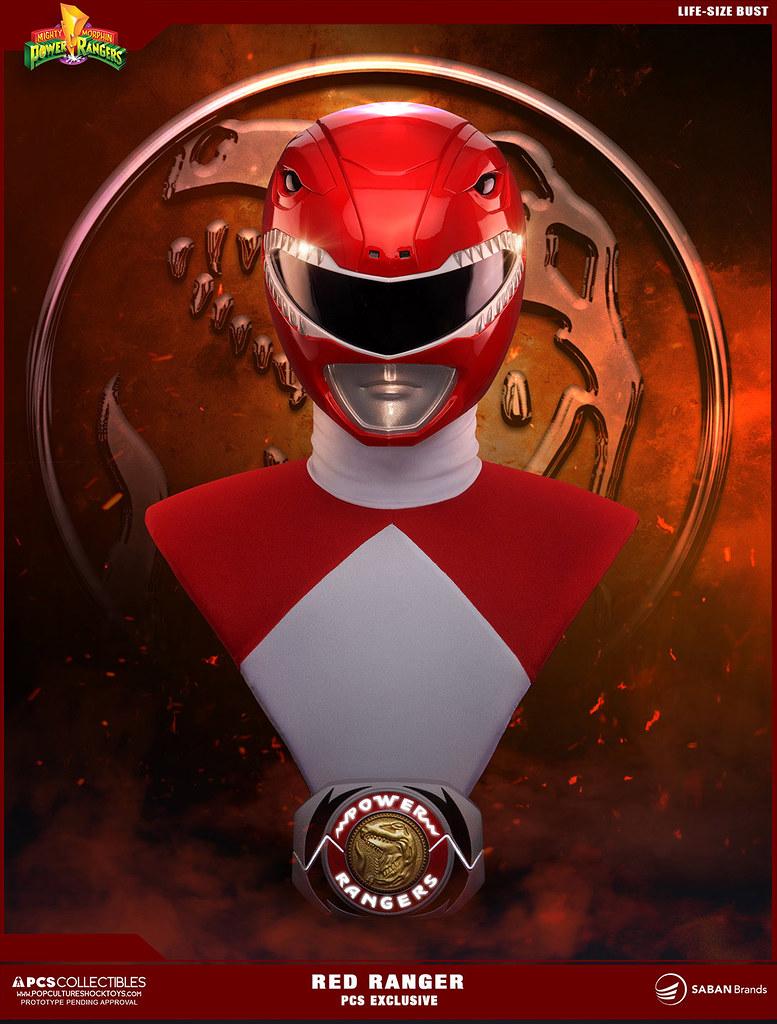 Pop Culture Shock【金剛戰士:紅衣戰士】Red Ranger 1:1 比例胸像作品
