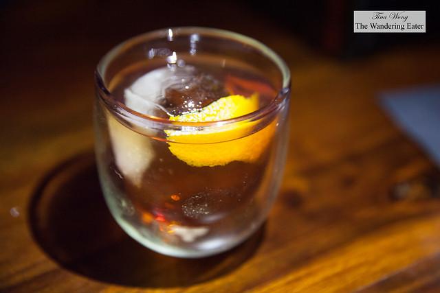 Harajuku Negroni - Byrrh, gran classico, Nikka Coffey grain whisky with orange twist