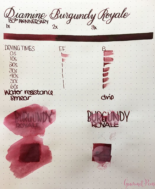 Ink Shot Review Diamine Anniversary Burgundy Royale @AppelboomLaren 2