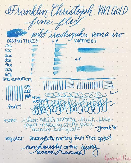 Review Franklin-Christoph Fine Flex & Fine SIG Flex Nibs @1901FC 1