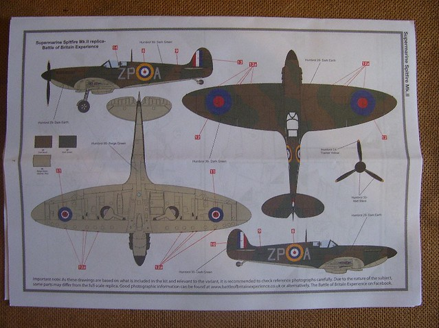 airfix supermarine spitfire mk1a instructions