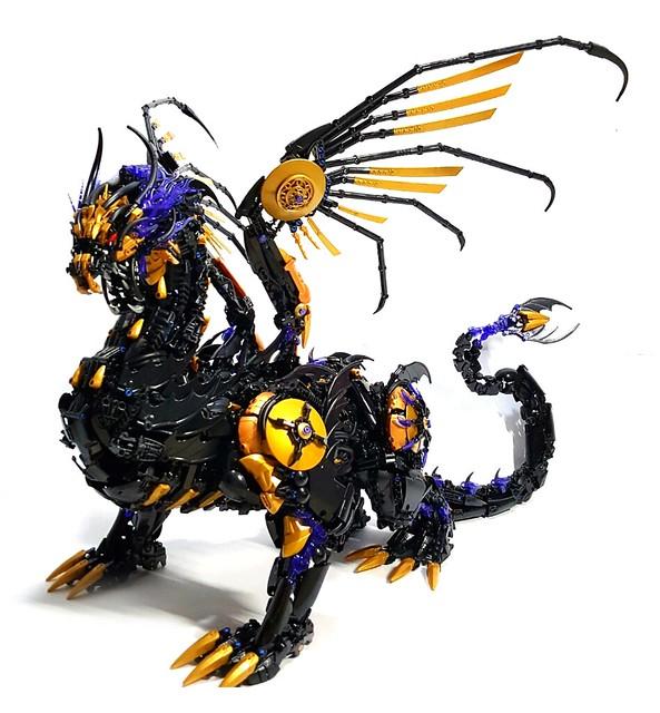 Ausmalbilder Lego Elves Drachen: Anschauen! LEGO-Künstler Zaubert Riesigen Schwarzen