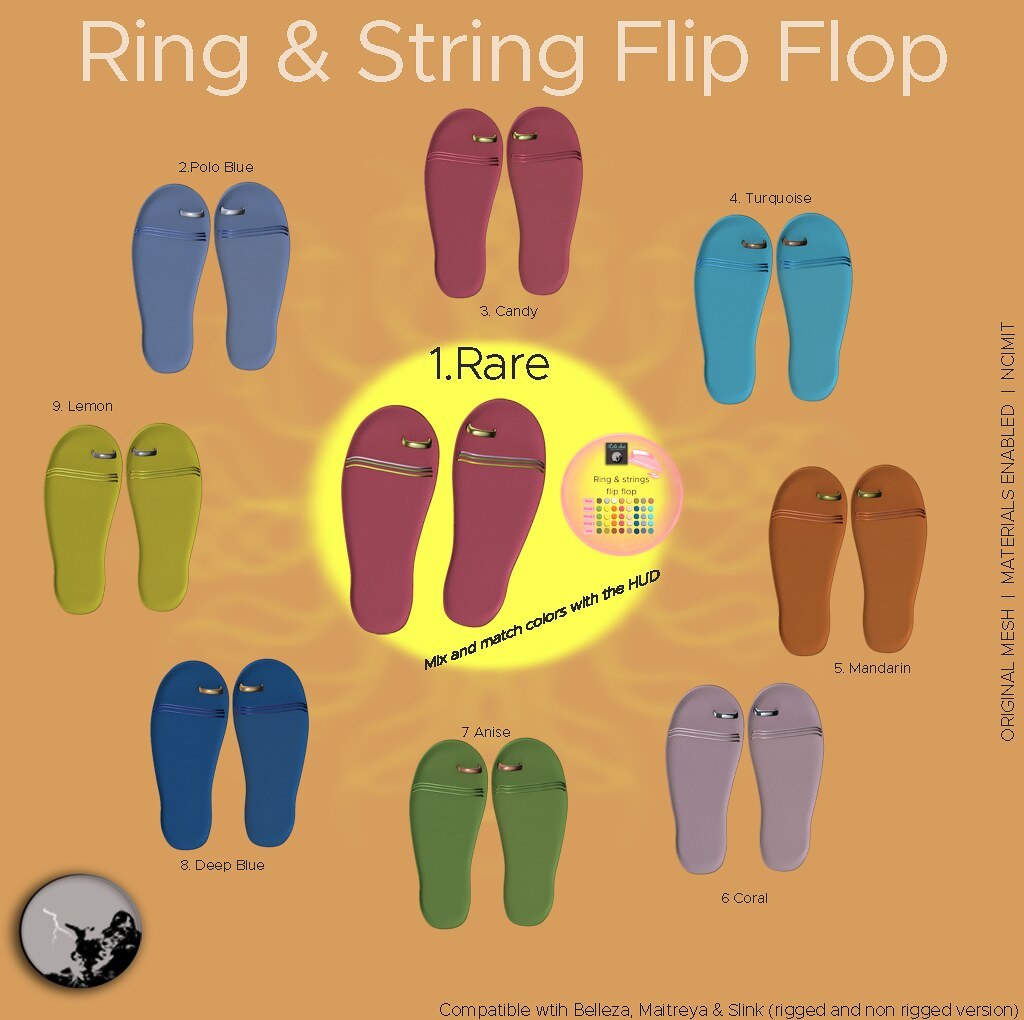 Ring & strings flip flop gatcha @ the Hidden Chapter-july - SecondLifeHub.com