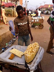 Sugarcane vendor, Dutse Market, Dutse, Abuja, Nigeria, #JujuFilms