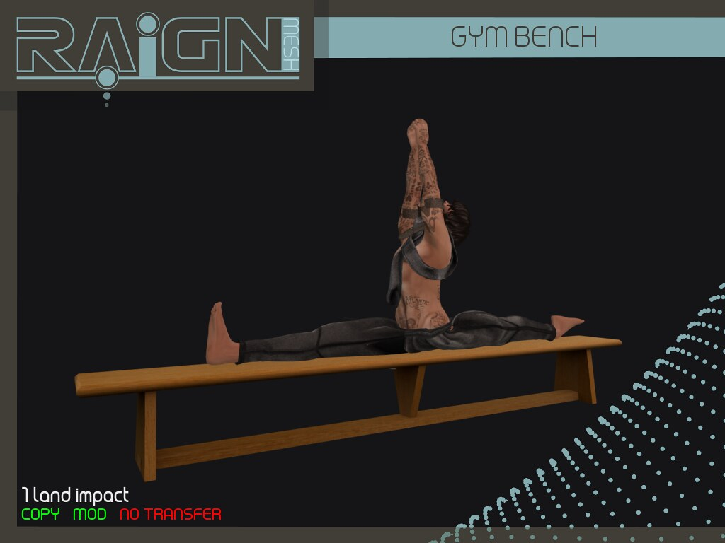 RAIGN Gym Bench - SecondLifeHub.com