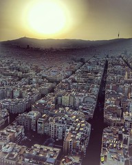 (#droneview)   The Eixample (Catalan pronunciation: [???amp??], Catalan for 'expansion' or 'Expansion District') is a district of #Barcelona between the old city (Ciutat Vella) and what were once surrounding small towns (Sants, Gr�cia, Sant Andreu etc.),