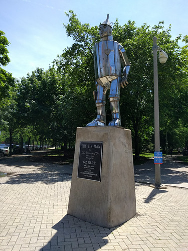the tin man in Oz Park