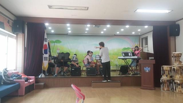 화북초등학교: 밴드 방과후 수업공개