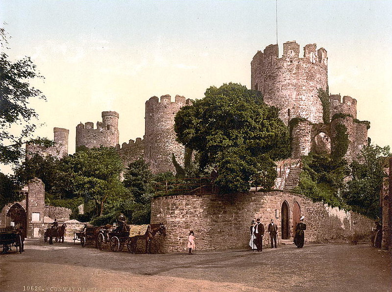 Conwy Castle entrance