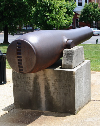 Civil War Cannon on Courthouse Grounds - Paoli, Indiana
