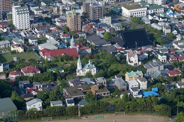 函館元町地区 Motomachi view from Mt Hakodate