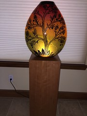 Cherry Wood Veneer Pedestal