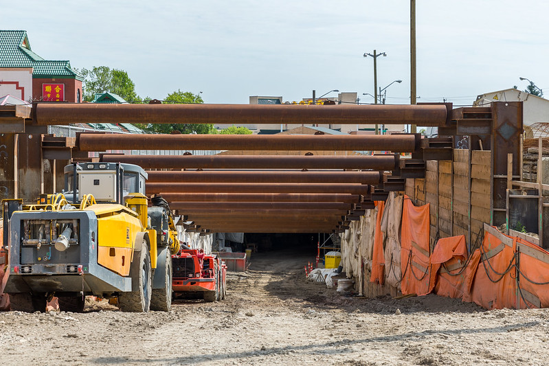 Future Valley Line LRT Tunnel in The Quarters