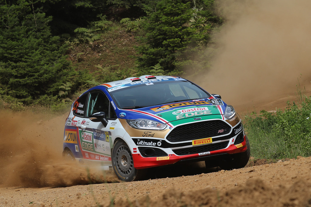 15 OZDEMIR Umitcan (tur) and MEMISYAZICI Batuhnan (tur) action during the European Rally Championship 2017 - Acropolis Rally Of Grece - Loutraki From June 2 to 4 in Loutraki - Photo Gregory Lenormand / DPPI