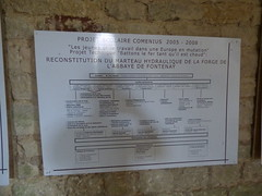 Fontenay Abbey - The forge - sign - Projet Scolaire Comenius 2005 - 2008