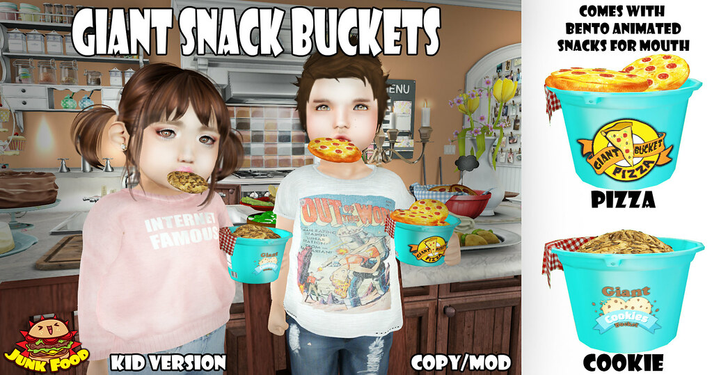 Junk Food - Giant Snack Buckets - SecondLifeHub.com