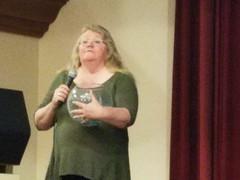 Kathie calls the next winner