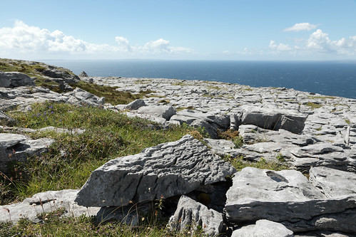 ireland eire theburren countyclare landscape countryside nature limestone coast coastal seaside sea galwaybay