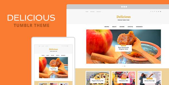 Delicious v1.0 – Tumblr Theme