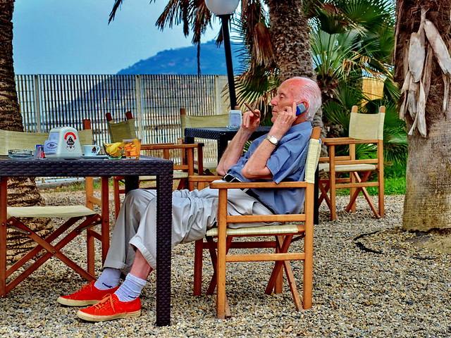 Sanremo, Enjoying outdoor breakfast
