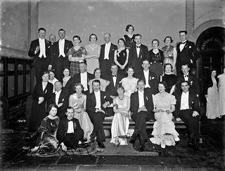 Beagle Ball group, flashlight photo taken at townhall