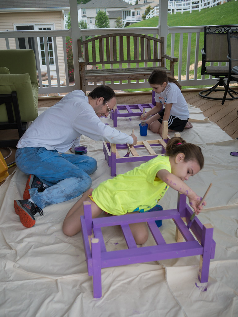 Painting each bed