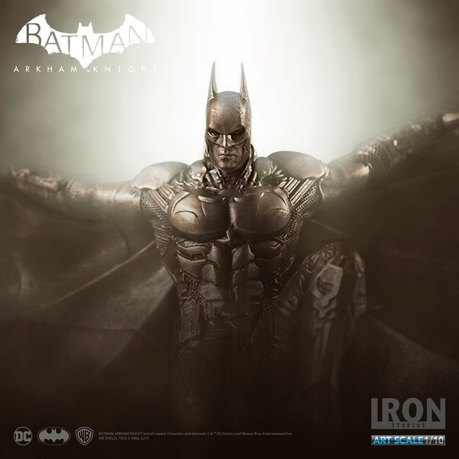 Iron Studios 蝙蝠俠:阿卡漢騎士【蝙蝠俠 青銅版】Arkham Knight Batman(Bronze Edition) 1/10 比例全身雕像作品