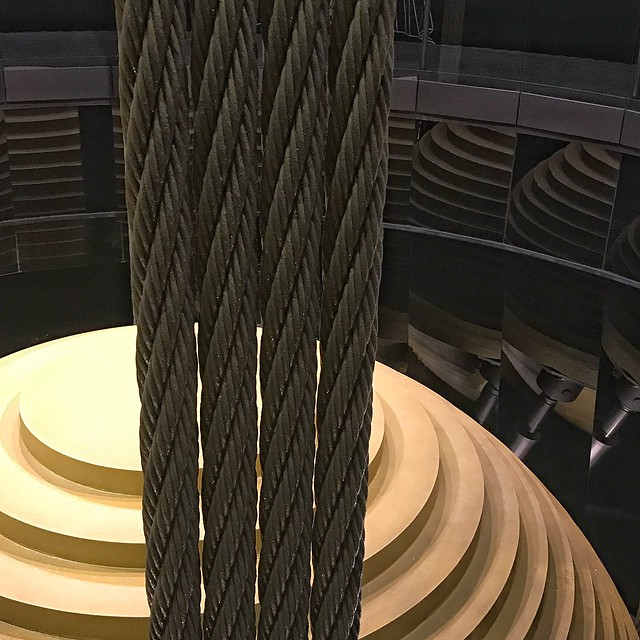 Of course I went to Taipei 101. Where else can you see a 660 metric ton steel sphere with cables and lifters?